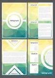 Ensemble de couvertures de livre géométriques polygonales Photographie stock
