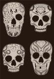 Ensemble de crânes mexicains de sucre Image stock