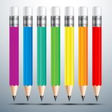 Ensemble de crayon Photographie stock