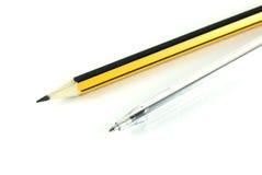Ensemble de crayon lecteur et de crayon Photographie stock