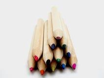 Ensemble de crayons beautifulcolored Photographie stock libre de droits
