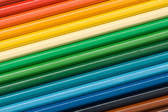 Ensemble de crayons colorés image stock