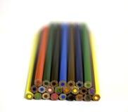 Ensemble de crayons lumineux de couleur Photos libres de droits