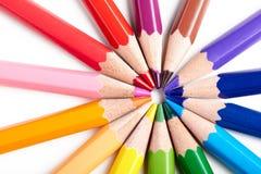 Ensemble de crayons multicolores Image libre de droits