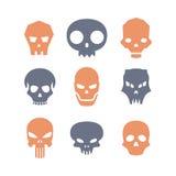 Ensemble de crânes Photographie stock libre de droits