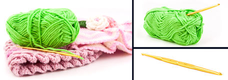 Ensemble de crochet Photos stock