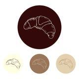 Ensemble de croissants Image stock