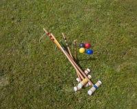 Ensemble de croquet Photographie stock