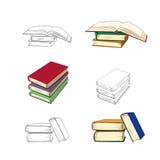 Ensemble de croquis des livres Illustration de vecteur Images stock