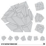 Ensemble de cubes cassés illustration libre de droits