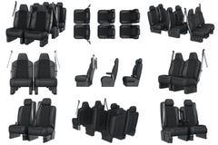 Ensemble de cuir de siège de voiture Photo libre de droits