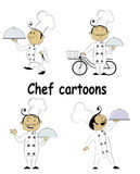 Ensemble de cuisinier en chef de bande dessinée d'amusement Photographie stock
