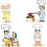 Ensemble de cuisiniers Photos libres de droits