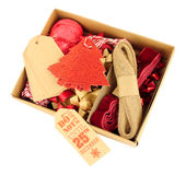 Ensemble de décoration d'emballage cadeau de Noël Image stock