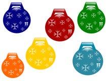 Ensemble de décorations de Noël-arbre Photographie stock libre de droits