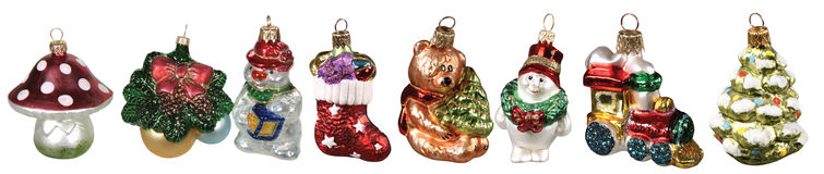 Ensemble de décorations de Noël d'isolement photos libres de droits