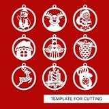 Ensemble de décorations de Noël - boules illustration libre de droits