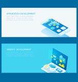 Ensemble de développement d'applications de site Web Illustration Libre de Droits