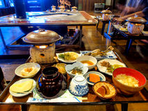 Ensemble de dîner japonais traditionnel Image stock