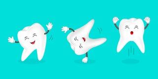 Ensemble de danse humaine de dent illustration libre de droits