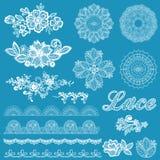 Ensemble de dentelle, rubans, fleurs Photographie stock libre de droits