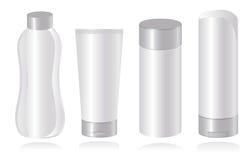 Ensemble de descripteurs cosmétiques de conteneur. Vecteur-Illust illustration stock