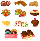 Ensemble de dessert Photo stock