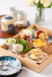 Ensemble de dessert de temps de thé Image stock