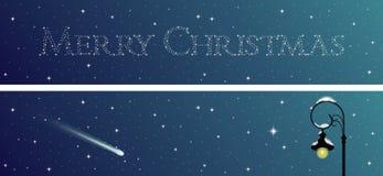 Ensemble de deux bannières de Noël Image libre de droits