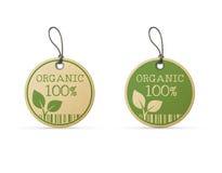 Ensemble de deux labels d'eco Photographie stock