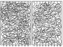 Deux labyrinthes Photo libre de droits