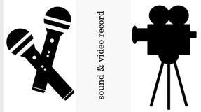 Ensemble de deux logos Images libres de droits