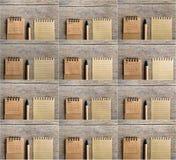 Ensemble de deux mille calendriers de dix-sept ans Deux mille sept Image libre de droits
