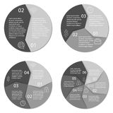 Ensemble de diagramme infographic rond Photographie stock libre de droits