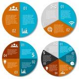 Ensemble de diagramme infographic rond Image libre de droits