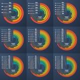 Ensemble de diagrammes infographic instructifs de cercle de présentation illustration de vecteur