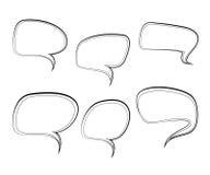 Ensemble de dialogues d'isolement de bulles Bulle de pensée Bulle de dialogue Bulle vide pour la conception Photographie stock libre de droits