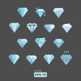 Ensemble de diamant de vecteur Photos stock