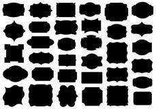 Ensemble de différentes étiquettes illustration stock