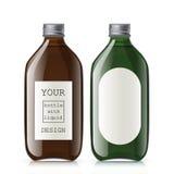 Ensemble de différentes bouteilles en verre vides illustration stock