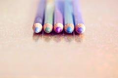 Ensemble de différentes couleurs d'eyeliner Photos libres de droits