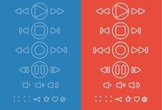 Ensemble de différentes icônes de media Illustration de vecteur Photos libres de droits