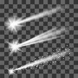 Ensemble de différentes lumières blanches Image libre de droits