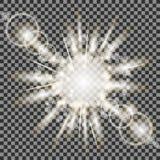 Ensemble de différentes lumières blanches Photo stock