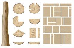Ensemble de différentes textures en bois 1 illustration de vecteur