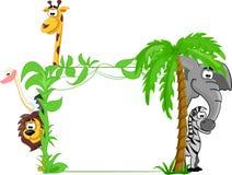 ensemble de différents animaux mignons, vecteur Image libre de droits