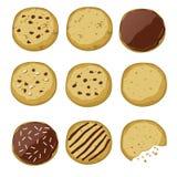 Ensemble de différents biscuits illustration de vecteur