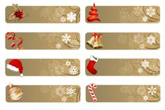 Ensemble de différents drapeaux de Noël Image libre de droits