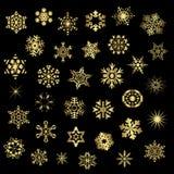 Ensemble de différents flocons de neige, vecteur Image libre de droits