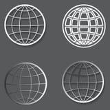 Ensemble de différents globes illustration libre de droits